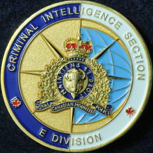 RCMP E Division Criminal Intelligence Section