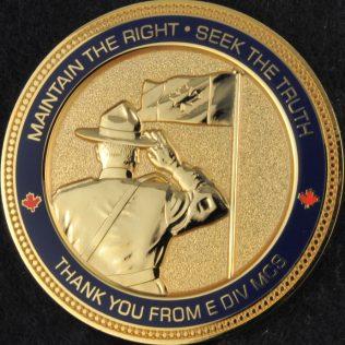 RCMP E Division Major Crime Section Gold