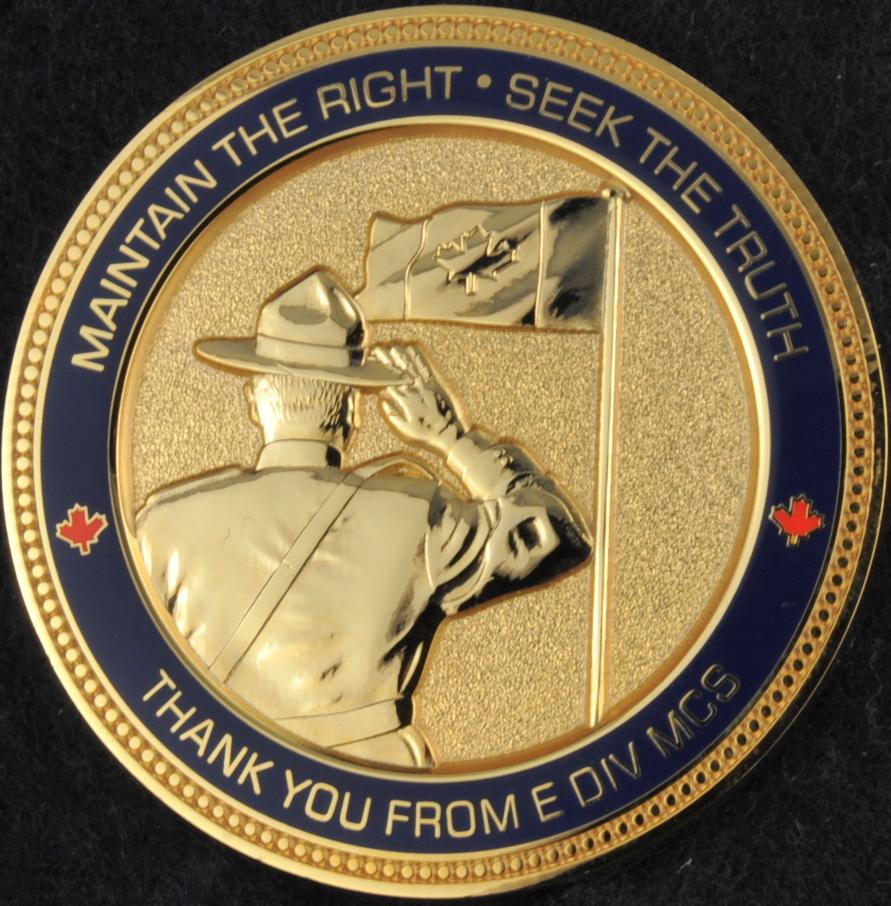 Rcmp E Division Major Crime Section Gold Challengecoins Ca