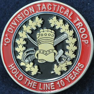 RCMP O Division Tactical Troop 10 years