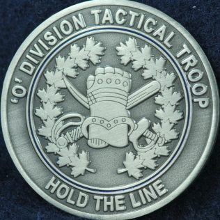 RCMP O Division Tactical Troop pewter