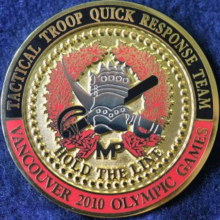 RCMP E Division Tactical Troop Quick Response Team Vancouver 2010 Olympic Games