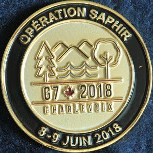Sûreté du Québec - Opération Saphir G7 2018 Charlevoix