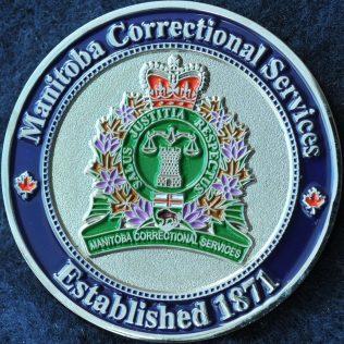 Manitoba Correctional Services Established 1871