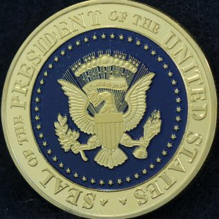 US Seal of the President of the United States Donald J Trump