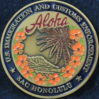 US Department of Homeland Security ICE SAG Honolulu