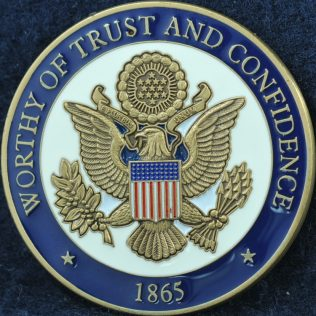 US Secret Service Worthy of Trust and Confidence 1865