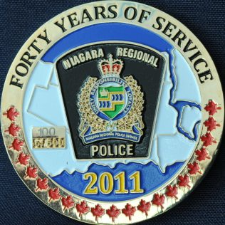Niagara Regional Police 40 years of service