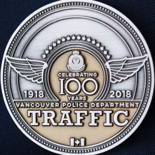 Vancouver Police Department Traffic 1918-2018 Chief Gold