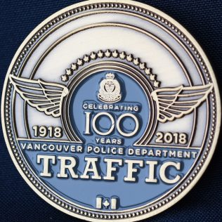 Vancouver Police Department Traffic 1918-2018 Inspector Blue