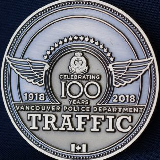Vancouver Police Department Traffic 1918-2018 Superintendent Pewter