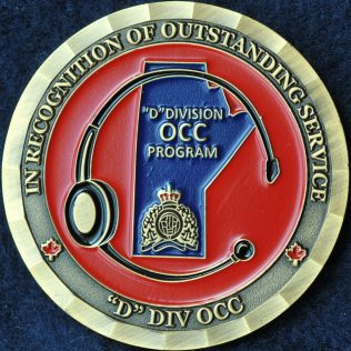 RCMP D Division Operational Communication Centre In Recognition of Outstnding Services