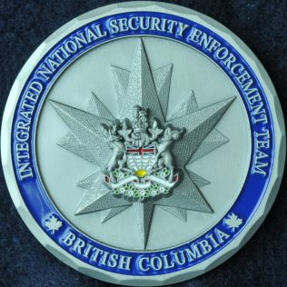 RCMP E Division Integrated National Security Enforcement Team INSET - BC Coat of Arms
