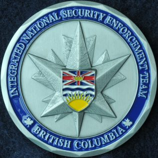 RCMP E Division Integrated National Security Enforcement Team INSET - BC Flag