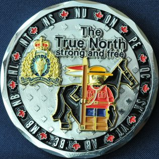 RCMP Generic LEGO The True North Strong and Free - Silver