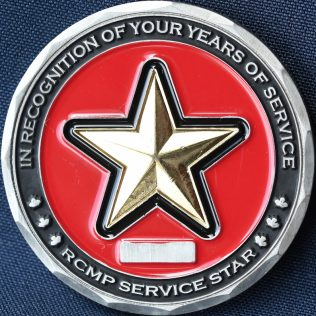 RCMP Generic Service Star In Recognition of your years of service