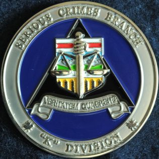RCMP K Division - Serious Crimes Branch Blue