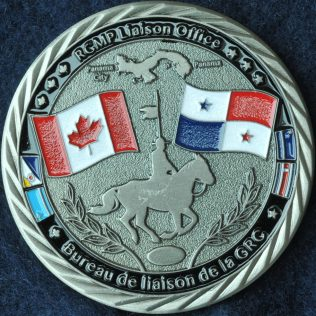 RCMP NHQ Liaison Office Panama Antique Silver