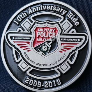 Canadian Military Police National Motorcycle Relay 2009-2018