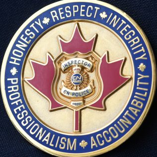 Canadian National Police Service Inspector Gold