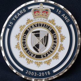 Canada Border Services Agency CBSA 15 Anniversary 2003-2018