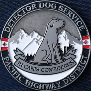 Canada Border Services Agency CBSA Detector Dog Service Pacific Highway District Pewter