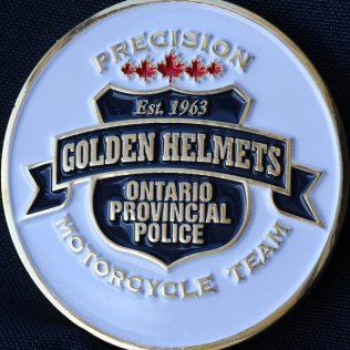 Ontario Provincial Police OPP Golden Helmets Precision Motorcycle Team