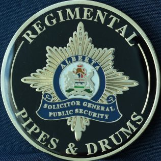 Alberta Solicitor General Public Safety Regimental Pipes and Drums