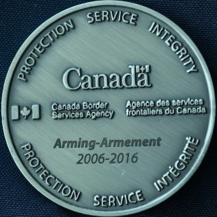 Canada Border Services Agency CBSA - Arming 2006-2016