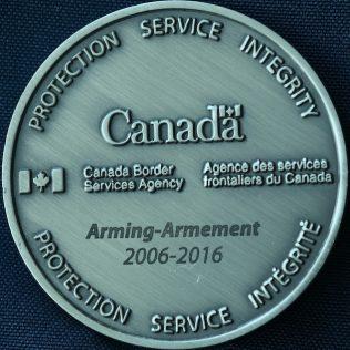 Canada Border Services Agency CBSA - Arming 2006-2016