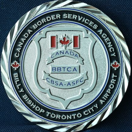 Canada Border Services Agency CBSA - Billy Bishop Toronto City Airport Thin Blue Line Black