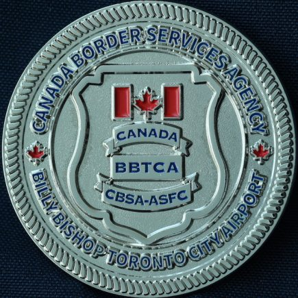 Canada Border Services Agency CBSA - Billy Bishop Toronto City Airport Thin Blue Line Silver
