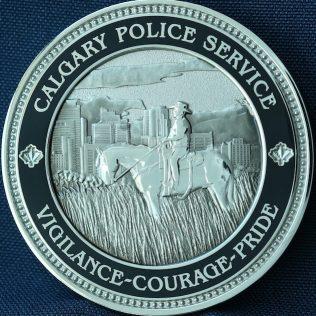 Calgary Police Service - Vigilance Courage Pride Red