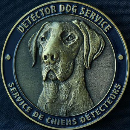 Canada Border Services Agency CBSA - Detector Dog Service Pacific Region 2 inch