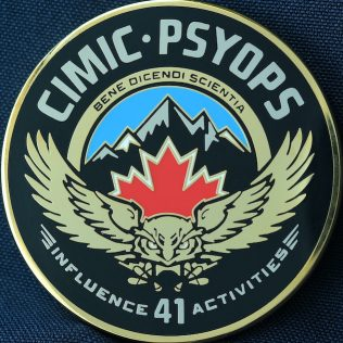 Canadian Military Official 41 Canadian Brigade Group - CIMIC PSYOPS