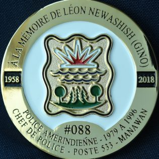 Leon Gino NEWASHISH Police de Manawan
