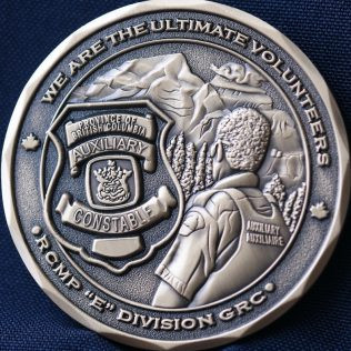 RCMP E Division Auxiliary Constable Pewter