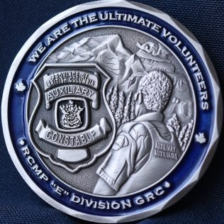 RCMP E Division Auxiliary Constable Silver