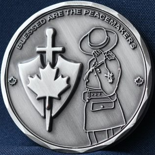 RCMP Generic Blessed are the Peacemakers (Pewter)
