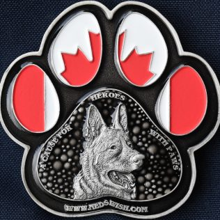 RCMP Generic Police Dog Service Canadian Flag