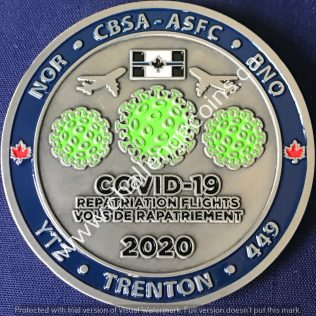 Canada Border Services Agency CBSA - Covid-19 Repatriation Flights Trenton 2020
