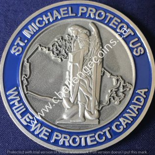 Canada Border Services Agency CBSA - St-Michael Protect Us Blue