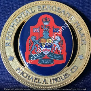 Calgary Police Service Regimental Sergeant Major Michael A Inglis CD Blue