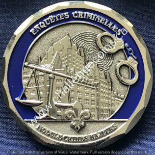 Service de Police de la Ville de Quebec SPVQ - Module Crimes Majeurs Silver