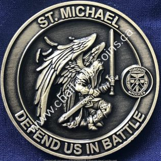 Toronto Police Service - St Michael Defend us in Battle