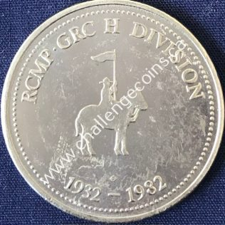 RCMP H Division - 50 Anniversary 1932-1982 Silver