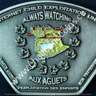RCMP J Division - Internet Child Exploitation Unit Patch shape