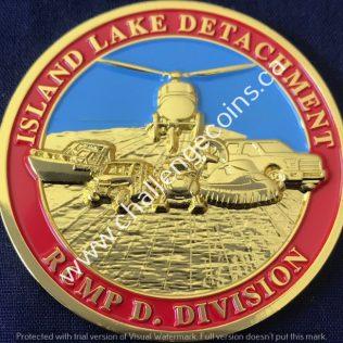RCMP D Division Island Lake Detachment Gold