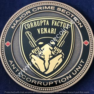RCMP E Division Major Crime - Anti Corruption Unit Gold