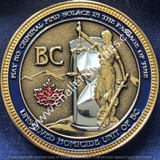 RCMP E Division Major Crime - Unsolved Homicide Unit of BC Gold